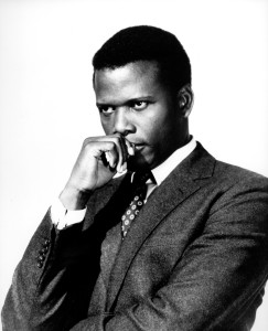 An iconic image of Sydney Poitier.